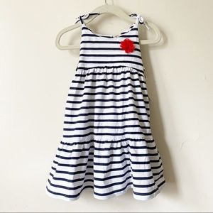 Oshkosh B'gosh Girls Dress Striped Blue\White NEW